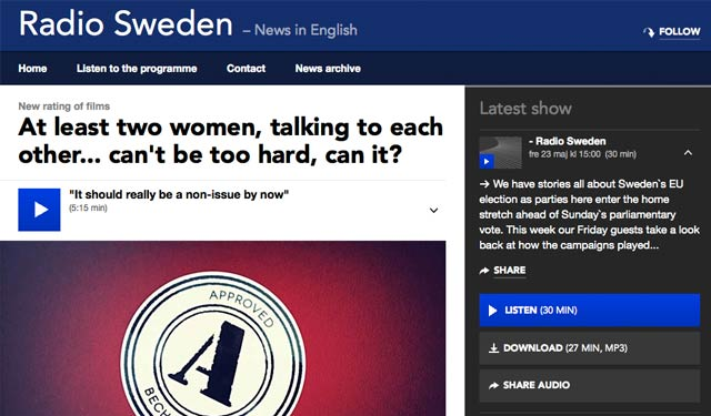 At least two women, talking to each other… can't be too hard, can it?