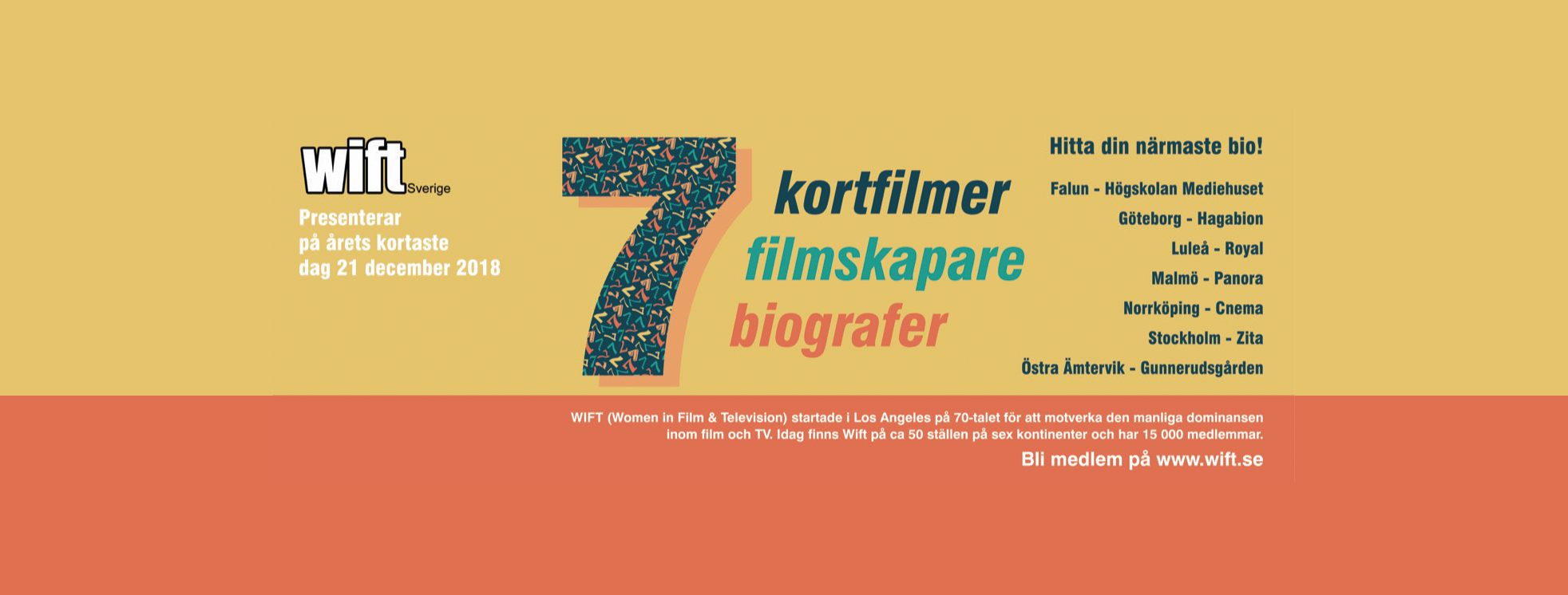 SJUAN - kortfilmsprogram från WIFT Sverige
