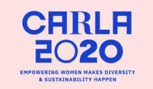 Texten CARLA 2020 mot rosa bakgrund